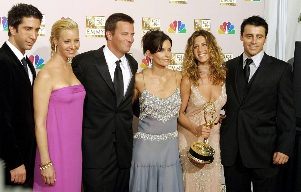 """Friends"""" -- starring (from L-R) David Schwimmer, Lisa Kudrow, Matthew Perry, Courteney Cox, Jennifer Aniston and Matt LeBlanc -- remains wildly popular even among viewers too young to remember its original run, which ended in 2004"""